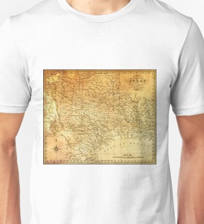 MAP of the REPUBLIC of TEXAS 1841 Unisex T-Shirt