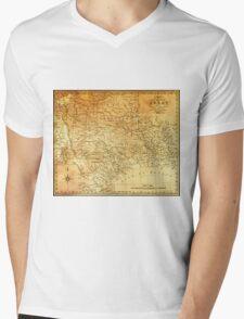 MAP of the REPUBLIC of TEXAS 1841 Mens V-Neck T-Shirt