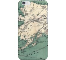 ALASKA GOLD RUSH SURVIVAL MAP/GUIDE  1897 iPhone Case/Skin