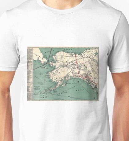 ALASKA GOLD RUSH SURVIVAL MAP/GUIDE  1897 Unisex T-Shirt