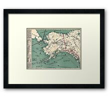 ALASKA GOLD RUSH SURVIVAL MAP/GUIDE  1897 Framed Print
