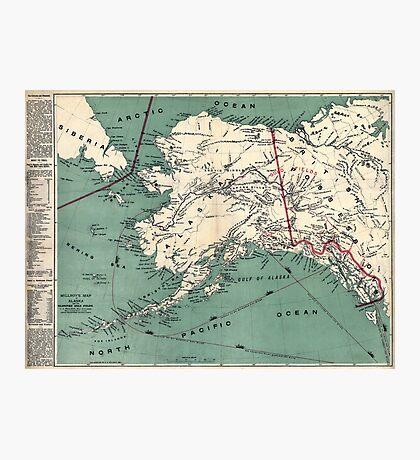 ALASKA GOLD RUSH SURVIVAL MAP/GUIDE  1897 Photographic Print