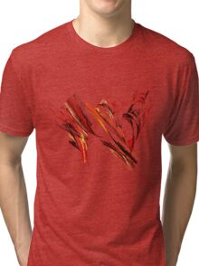 Warm Color Abstract Fractal Tri-blend T-Shirt