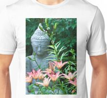 Lilies And Garden Statue Unisex T-Shirt