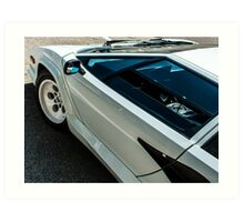 The Countach Angle  Art Print