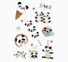 Panda Snacks One Piece - Long Sleeve