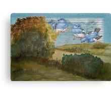 Wakening birds Canvas Print