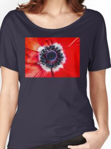 Symmetry on Red Women's Relaxed Fit T-Shirt