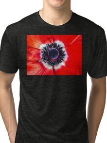 Symmetry on Red Tri-blend T-Shirt