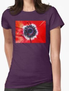 Symmetry on Red Womens Fitted T-Shirt