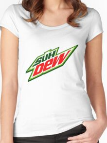 SUH DUDE SUH DEW MOUNTAIN DEW Women's Fitted Scoop T-Shirt