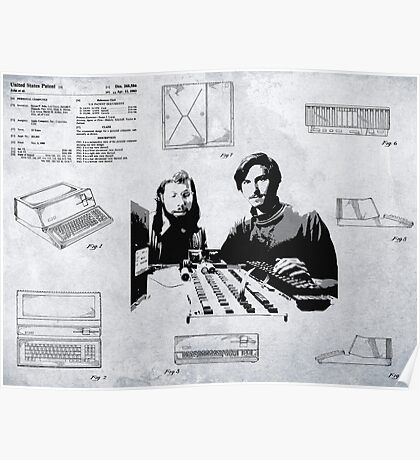 APPLE COMPUTER FIRST PATENT - JOBS & WOZNIAK Poster