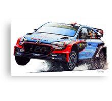WRC Dani Sordo's Car Canvas Print