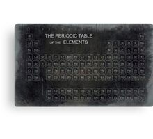 AGED PERIODIC TABLE Canvas Print