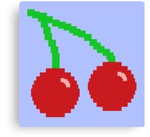 Pixel Cherries Canvas Print