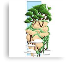 Pixel Landscape : Flying Rock Canvas Print