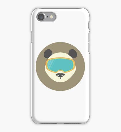 Panda bear with ski mask. iPhone Case/Skin