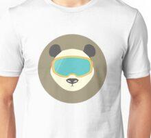 Pada bear with ski mask. Unisex T-Shirt