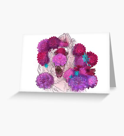 Borzoi Sunshine Greeting Card