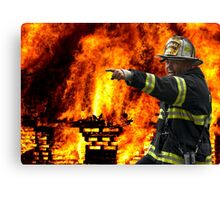 COMMAND FIRE CHIEF Canvas Print