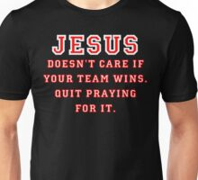 Jesus: Not a Sports Fan - White/Red Unisex T-Shirt