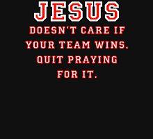 Jesus: Not a Sports Fan - White/Red Unisex T-Shirt