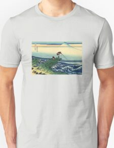 'Kajikazawa in the Kai Province' by Katsushika Hokusai (Reproduction) Unisex T-Shirt