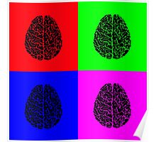 POP ART HUMAN BRAINS Poster