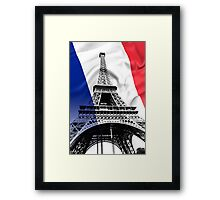 FRENCH FLAG and EIFFEL TOWER Framed Print