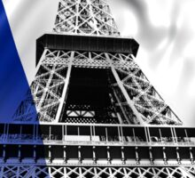 FRENCH FLAG and EIFFEL TOWER Sticker