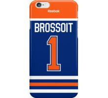Edmonton Oilers Laurent Brossoit Jersey Back Phone Case iPhone Case/Skin