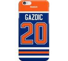 Edmonton Oilers Luke Gazdic Jersey Back Phone Case iPhone Case/Skin