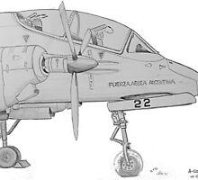 Pucara A-522 by Woodie