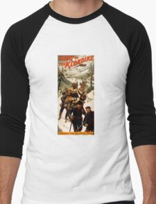 CHILKOOT PASS of KLONDIKE GOLD RUSH  c. 1897 Men's Baseball ¾ T-Shirt
