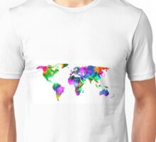 VIBRANT MAP of the WORLD Unisex T-Shirt