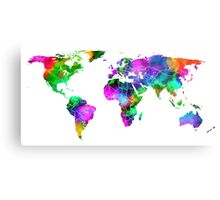 VIBRANT MAP of the WORLD Metal Print