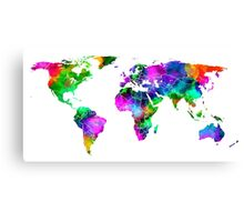 VIBRANT MAP of the WORLD Canvas Print