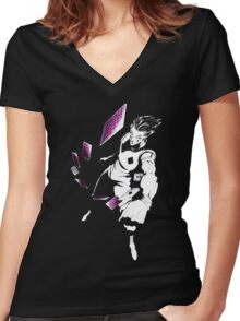 The Magician  Women's Fitted V-Neck T-Shirt