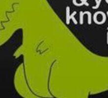 Funny Dinosaur Sticker
