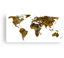 MAP of the WORLD SEPIA TONED Canvas Print