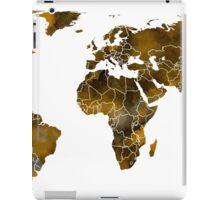 MAP of the WORLD SEPIA TONED iPad Case/Skin