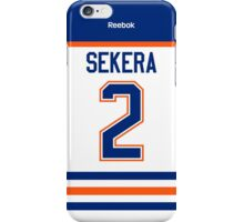 Edmonton Oilers Andrej Sekera Away Jersey Back Phone Case iPhone Case/Skin
