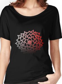 Red Gradient Flower Women's Relaxed Fit T-Shirt