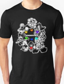 Undertale - Frisk, Sans, Papyrus, Toriel, Undyne Flowey, Mettaton, Muffet, Alphys and Asgore (All Characters) T-Shirt