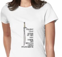 Last Sword of the King Under the Mountain  Womens Fitted T-Shirt