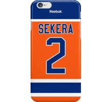 Edmonton Oilers Andrej Sekera Alternate Jersey Back Phone Case iPhone Case/Skin