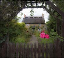 Rose Cottage - Oil Painting Effect by Glen Allen