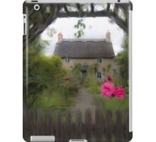 Rose Cottage - Oil Painting Effect iPad Case/Skin