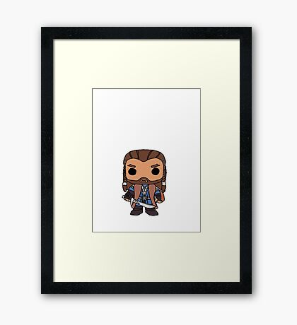 Thorin Oakenshield Pop Drawing Framed Print