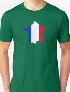 Flag Map of France  Unisex T-Shirt